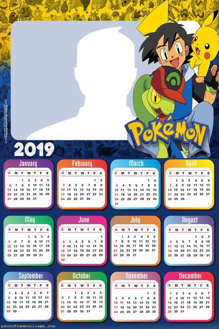 2019 Pokemon Calendar Pokemon Games Calendar 2019 Frame Photo Montage Free Online
