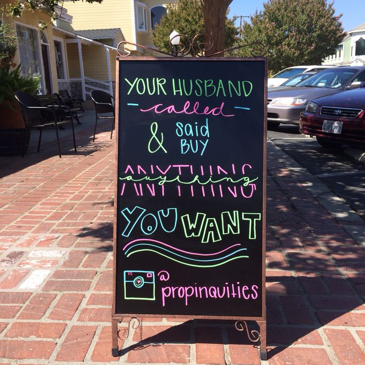 Your husband called and said buy anything you want