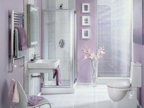 Cuartos De Baño Lila: Negro gris y marrón en el cuarto de baño ...
