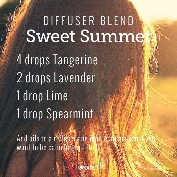 Yummy diffuser blend for summer.