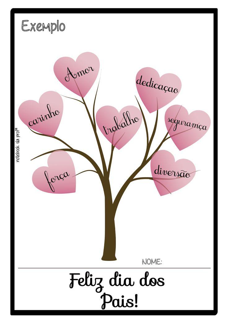 Atividade dia dos pais, lembrancinha dia dos pais, Datas comemorativas, Árvore, atividade de artes