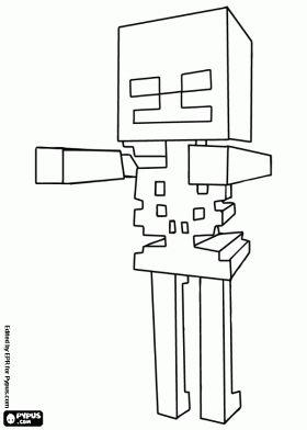 Malvorlagen Skelett Feindliche Kreatur Von Minecraft