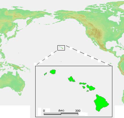 Eight main islands in the Hawaiian archipelago