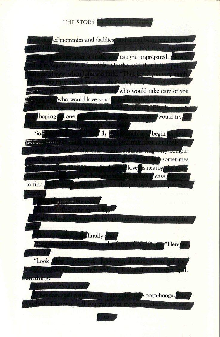 Poesía Blackout o Blackout poetry. Una estrategia interesante para crear poemas