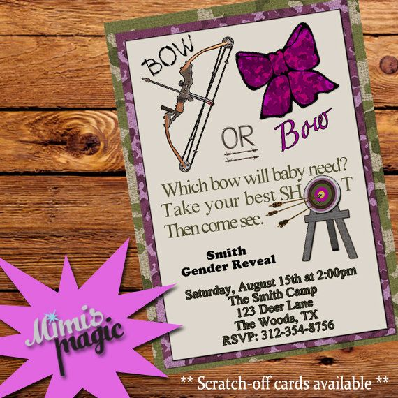 Which Bow Will Baby Need Hunting Gender Reveal by MiMisMagic4You
