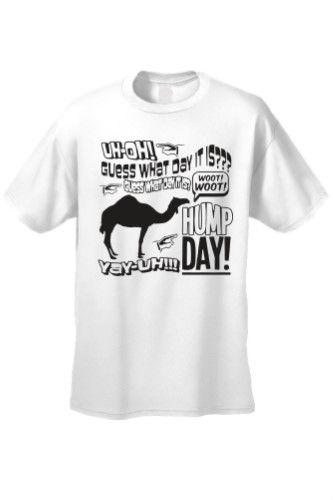 Men's/Unisex Woot Woot! Guess What! Hump Day! White Short Sleeve T-shirt (Medium)