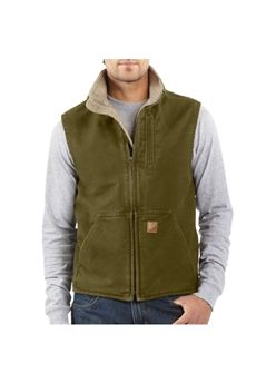 Carhartt Mens V33 Mock Neck Vest - Army Green | Buy Now at camouflage.ca