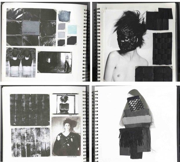 Fashion Sketchbook - fashion design development with mood, fabric & colour research // Bianca De Csernatony