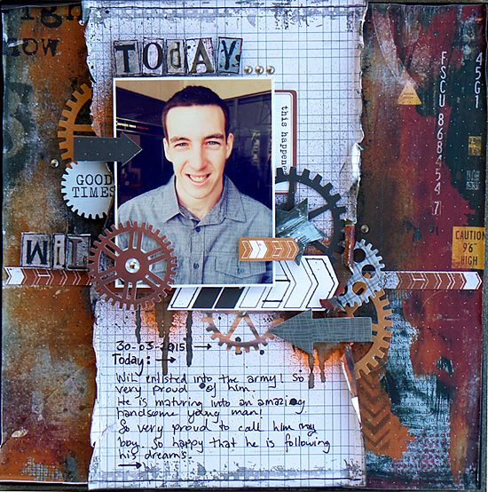 "'Today' by Michelle Grant for Kaisercraft ""Scrap Yard"" collection - Wendy Schultz ~ Scrapbook Pages 3."