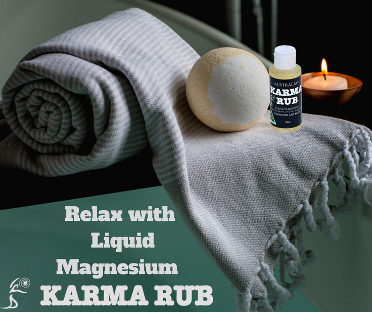 Relax muscles, nerves and tendons with Karma Rub's Liquid Magnesium! Healthy Body, Healthy Mind! Free Standing Shipping Australia Wide!!!