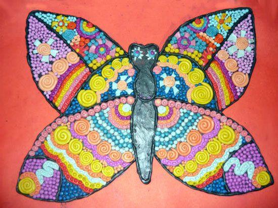 бабочка из пластилина для детей