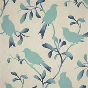 This is ablue and naturalfloral bird design cotton drapery fabric,suitable for any decor in the home or office. Perfect fordrapes and pillows.v131TEF