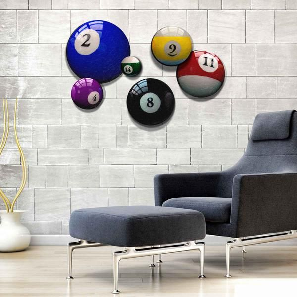Superior This Set Of 6 Billiard Balls Themed Art Prints Will Be Right On Cue Above  The