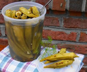 The Kitchen is My Playground: Spicy Pickled Okra ... no canning required