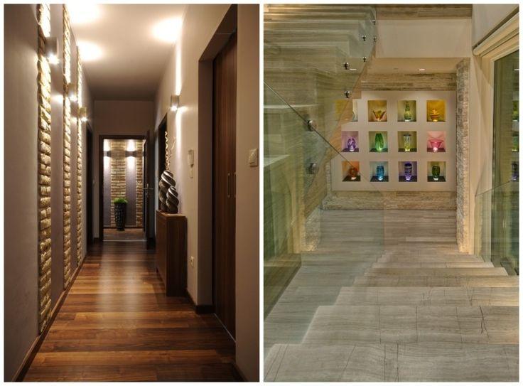 panneaux muraux décoratifs et éclairage indirect à lumière multicolore