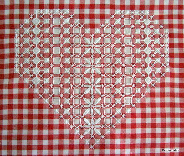 Chicken scratch, broderie suisse,  finished the embroidery… now what?