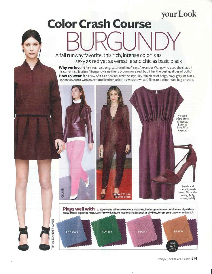 InStyle - Color Crash Course - Burgundy
