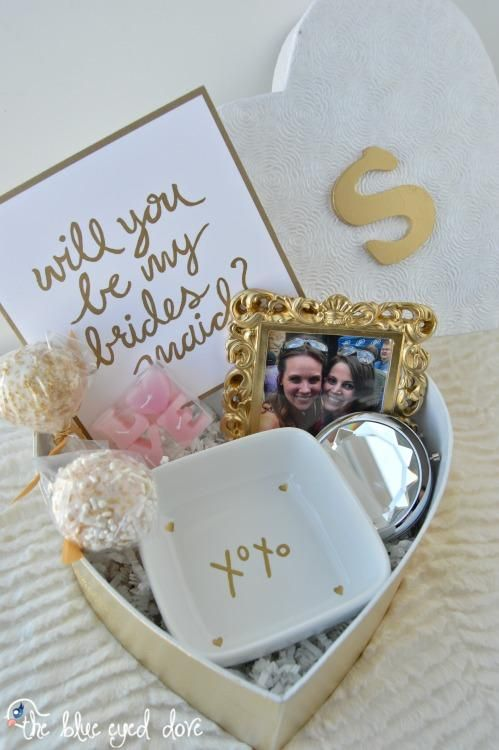 An easy and inexpensive gift idea for asking each of your bridesmaids to be in…
