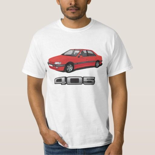 Peugeot 405 SRi + model badge, red, DIY  #peugeot #peugeot405 #automobile, #car #t-shirt, #print #europe #france #sri #405sri #80s #90 #red