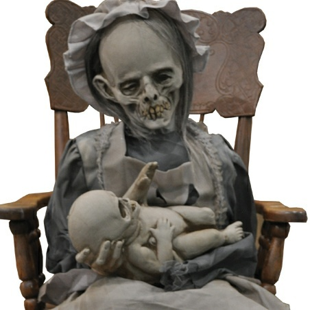 lullaby rocking mother with baby animated prop nightmare factory dead babies arent creepy halloween decorationshalloween - Creepy Halloween Decorations