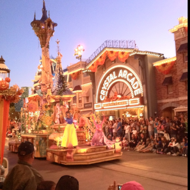 The Disney Princessesssess in the Parade down Main Street USA