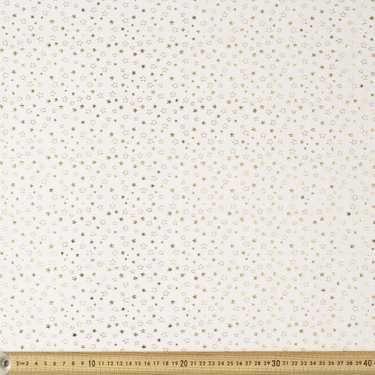 Foil Print Star Tulle Multicoloured fabric for lamp revamp.
