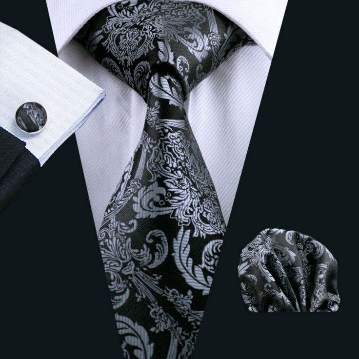 100% Silk Classic Tie Hanky Cufflinks Set For Men //Price: $9.50 & FREE Shipping Over 180 countries //    #bowties