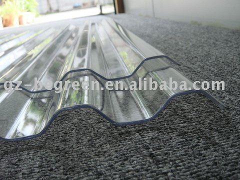 Panneau de toiture en plastique, polycarbonate ondulé feuille de toiture, transparent tuile