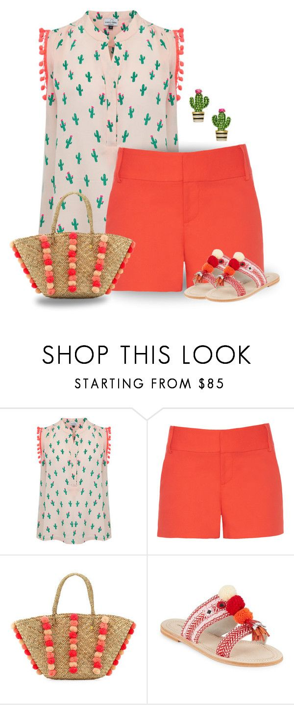"""""""Pom Pom & Cactus Outfit"""" by majezy ❤ liked on Polyvore featuring Mercy Delta, Alice + Olivia, Seafolly, Antik Batik and Kate Spade"""