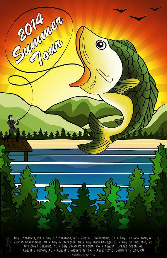 Phish Poster - Summer Tour 2014 on Etsy, $15.00