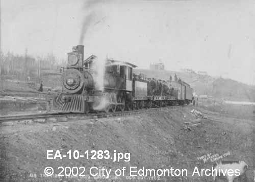 First train.   June 8 1904  Image Courtesy of Vintage Edmonton   https://www.facebook.com/TheVintageEdmonton