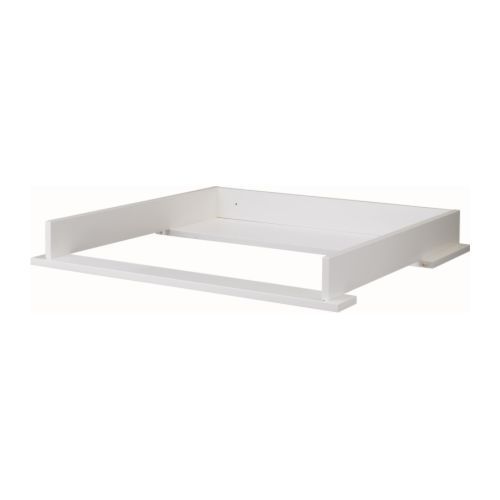HEMNES Changing table top, white white