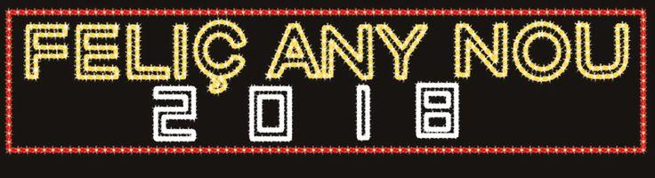 """""""Feliç any nou"""" seguido del año. Los dos últimos dígitos son intercambiables #navidad #lucesdenavidad #iluminacionnavidad #iluminacion navideña http://viada.net/lucesdenavidad/"""