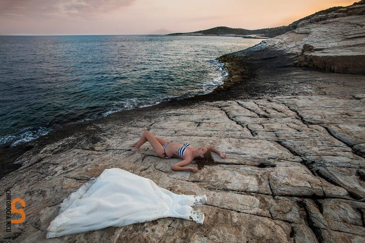after wedding shot in thassos greece