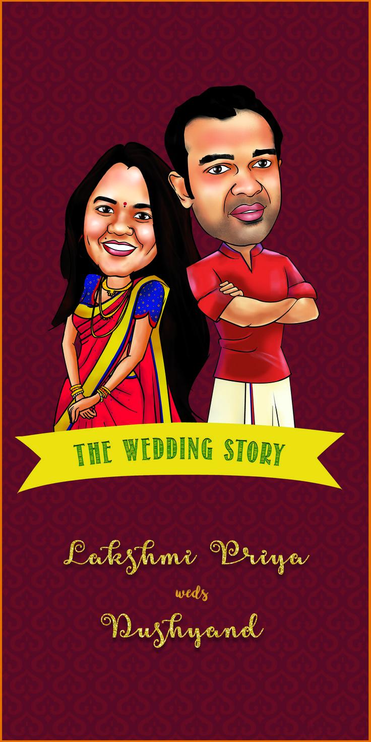Caricature Wedding Invitations Online | Invitationswedd.org