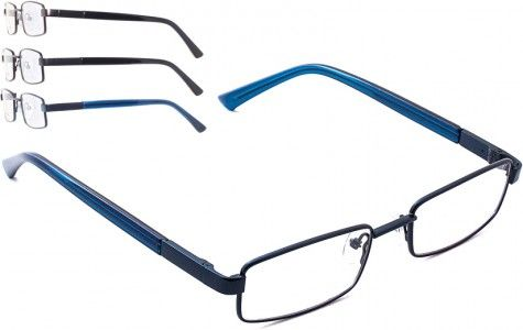 BROOKLYN DJD5477 Full - Rim Metal #Frame Front with pattern detailed on the Metal and Plastic Temples with Spring Hinges