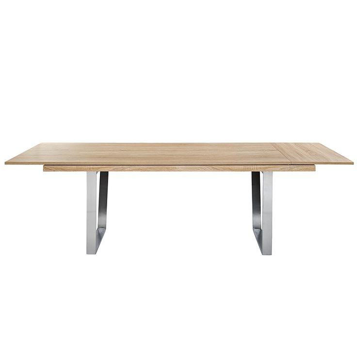 Esstisch Deck mit Metallfuß (ausziehbar) - Eiche Dekor | Home24