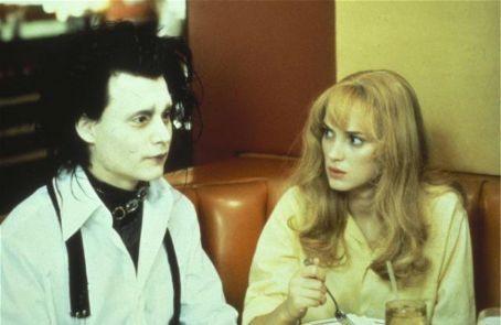 Johnny Depp as Edward Scissorhands and Winona Ryder as Kim in Edward Scissorhands (1990)
