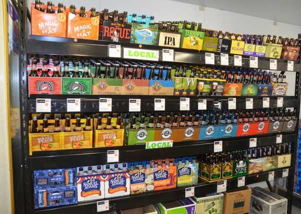 Handy Store Fixtures Beer Cave Shelving For Convenience Stores.