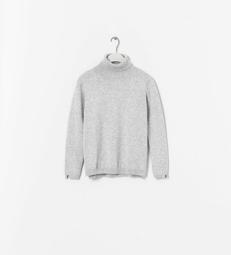 Image 1 of SWEATER WITH TURNOVER COLLAR from Zara