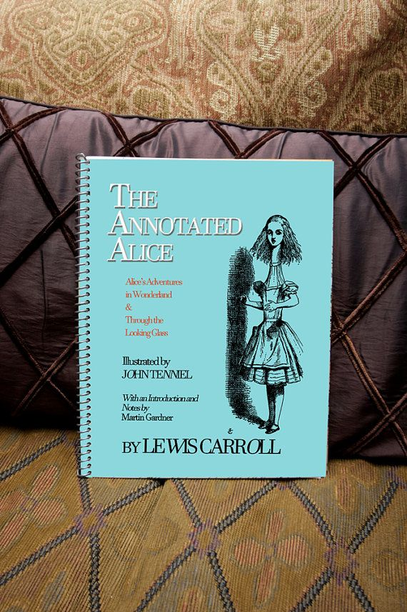 College Supplies: Notebook The Annotated Alice  by LostRiverPapers