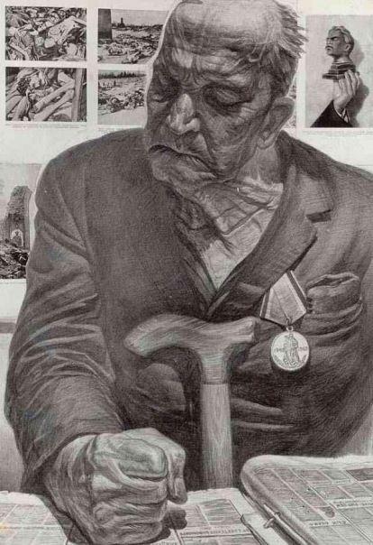 Gallery.ru / Возвращение с прогулки - Спасибо Деду за Победу... Геннадий Добров - tatasha