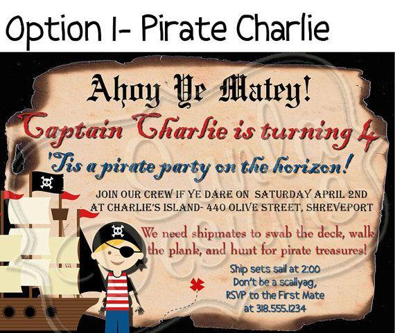 PRINTABLE Pirate Birthday Party