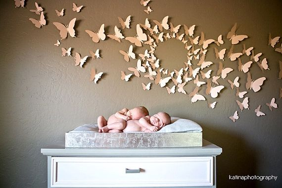 80 3D Schmetterling Wand Kunst Kreis Burst von LeeShay auf Etsy