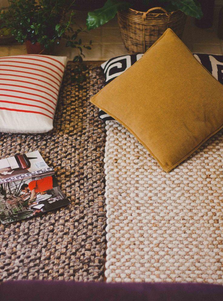 Living room - Wool jute rugs - Target online - Via Old Brand New Blog