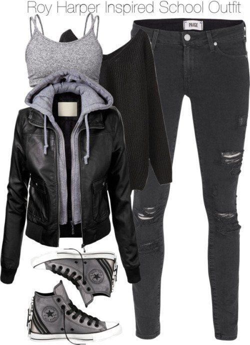 Nicht langweilige Winter-Outfits für die Schule