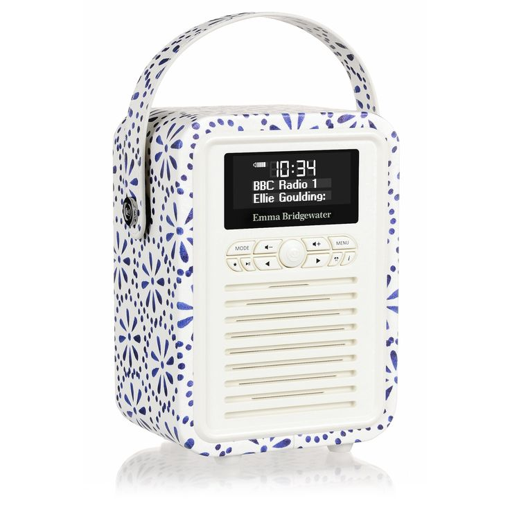 One for January #viewquest #emmabridgewater VQ Emma Bridgewater Retro Mini DAB Plus Radio and Bluetooth Speaker - Blue Daisy
