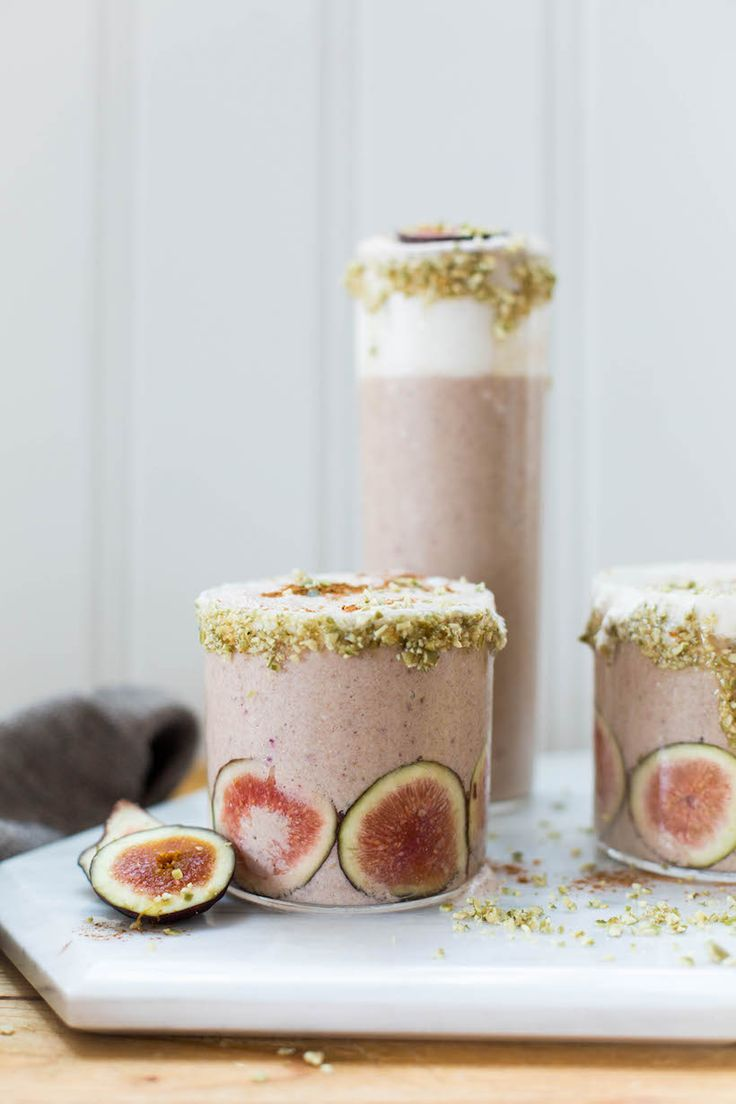 This decadent smoothie highlights all there is to love about Fall with the combined flavors of fig, vanilla, cinnamon and even a hint of pumpkin -- yum!