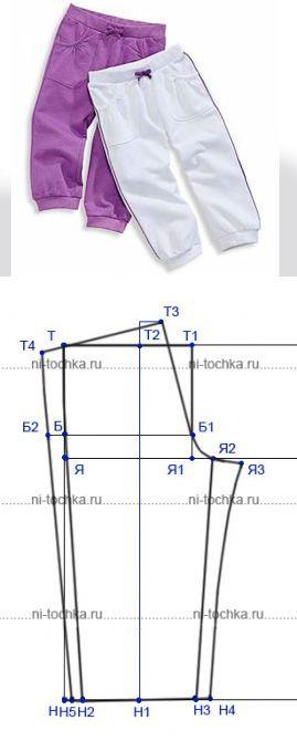 Выкройка детских брюк, штанишек....<3 Deniz <3