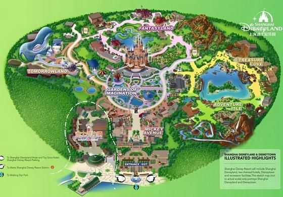 Map of Shanghai Disneyland